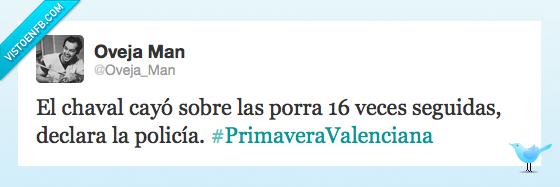 estudiantes,policia,Primavera,Valencia,Valenciana