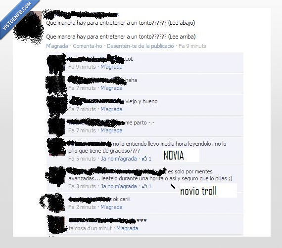abajo,arriba,facebook,leer,novia,novio,troll