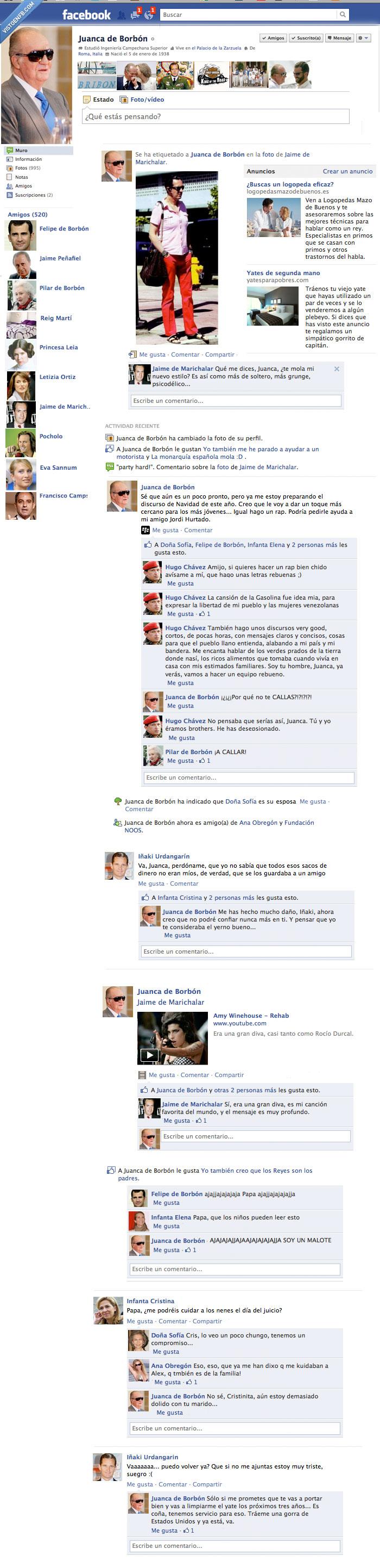 ana obregon,españa,facebook,falso,infanta,juan carlos,marichalar,pocholo,príncipe,reina,rey,urdangarin