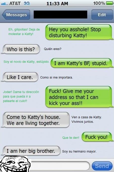 amenaza,déjala en paz,fail,hermano,molestar,novia,novio,troll,whatsapp