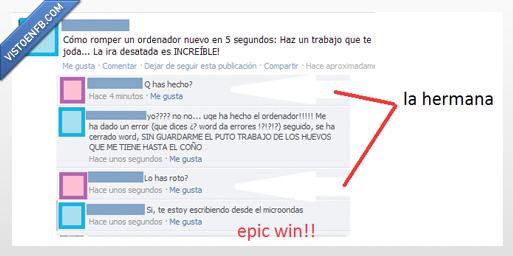epic win,error,estados,hermanas