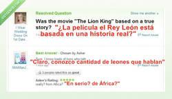 Enlace a El Rey León, basado en hechos reales