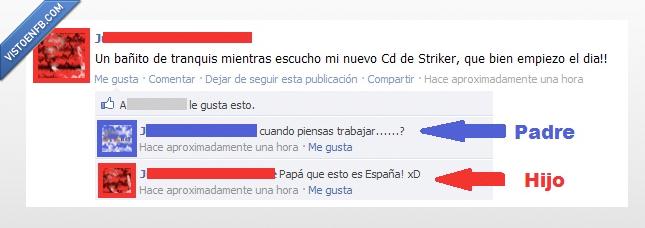 baño,cd,día,empezar,escuchar,España,facepalm,fail,paro,pena,trabajo