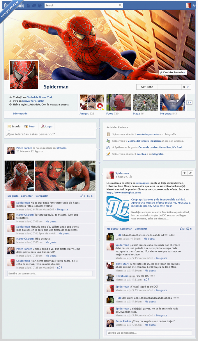 facebook,hulk,iron,marvel,peter parker,spiderman