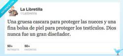 Enlace a Dios no fue gran diseñador... por @Lalibretilla