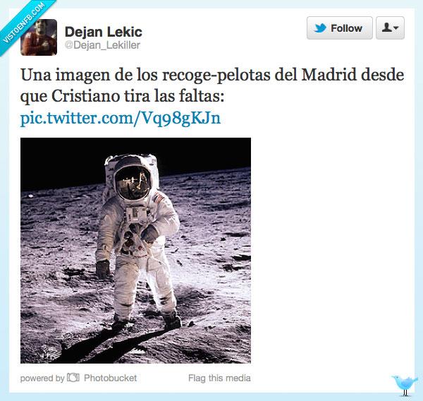 astronautas,Cristiano,faltas,luna,madrid,recogepelota