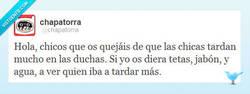 Enlace a Menos quejarse por @Chapatorra