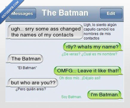 batman,chat,contactos,iphone