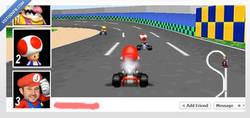 Enlace a Mario Kart ha llegado al timeline de Facebook