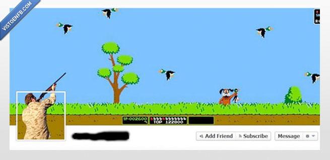 duck hunt,foto de portada,nintendo,timeline,videojuego