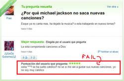 Enlace a Michael Jackson se nos ha vuelto católico