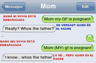 embarazada,hijo,madre,móbil,novia,tonta,whatsapp