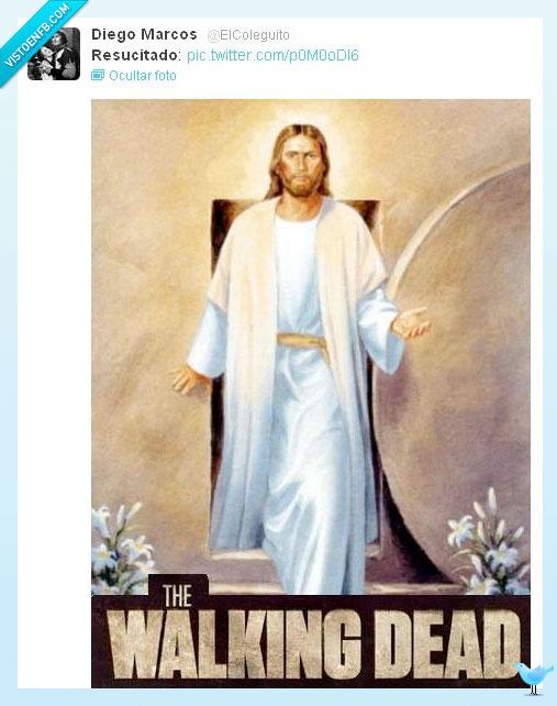 Jesús,resucitado,Walking Dead,zombi