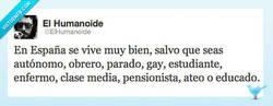 Enlace a Qué bonito es vivir en España por @elhumanoide