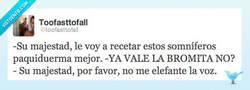 Enlace a El Rey necesita somníferos por @toofasttofall