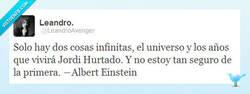 Enlace a Albert Einstein y Jordi Hurtado por @LeandoAvenger
