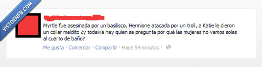 baño,harry potter,hermione,hp,kate,mujeres,myrtle,solas