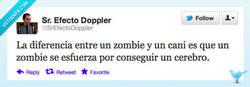 Enlace a Esa es la diferencia entre un cani y un zombie por @SrEfectoDoppler