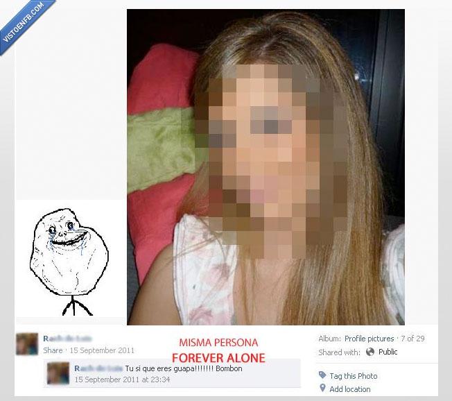 abuelas para que,auto,comenta,creída,Facebook,Forever Alone,guapa,no tengo amigos
