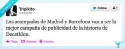 Enlace a Acampadas de Madrid y Barcelona 15M por @tripikito