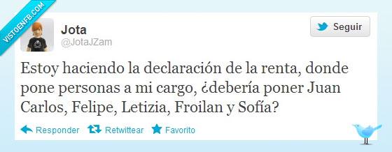 cargo felipe,froilan,Humor,juan,letizia,Monarquia,persona,Rey,sofia,Twitter