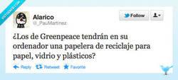 Enlace a Greenpeace y el reciclaje por @_PauMartinez