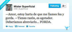 Enlace a Eres fea y gorda por @Mr_Superficial