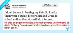 Enlace a No creo en la violencia por @adamsandlerfun