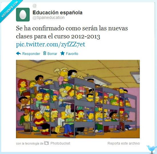 clases,Educación española,recortes