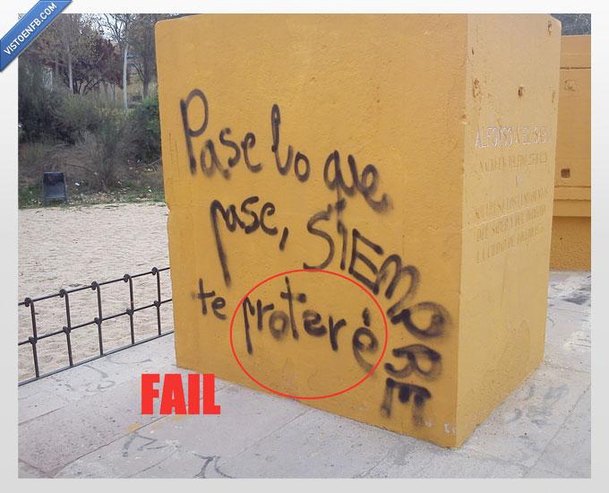 amor,declaración,graffiti,mensaje,ortografia not found,pared,pase,pintada,protegere,protere