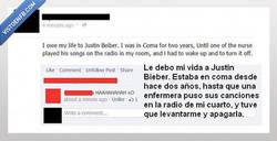 Enlace a Gracias, Justin Bieber, de verdad