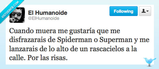 disfraz,El humanide,morir,spiderman,superman