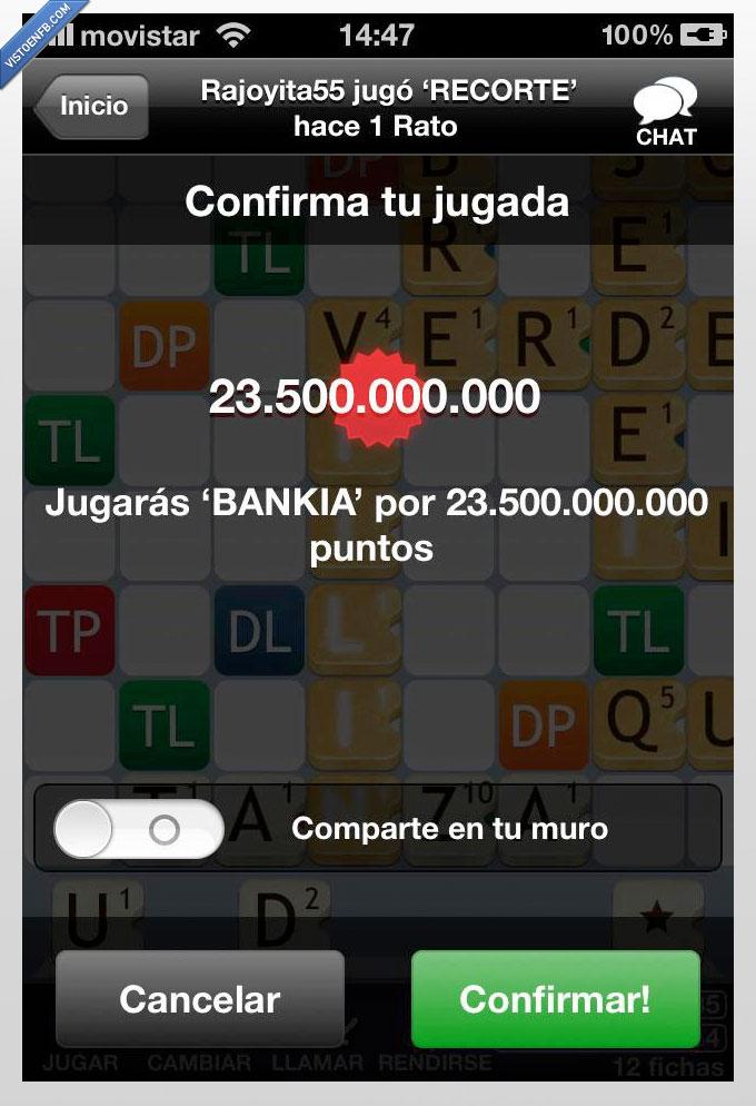 apalabrados,Bankia,juego,millon,montaje,Rajoy,recortes
