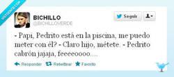 Enlace a ¿Me puedo meter con Pedrito? por @BICHILLOVERDE
