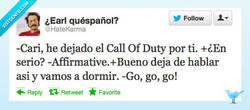 Enlace a He dejado el Call of Duty por ti por @HateKarma