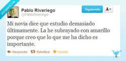 Enlace a Estudiar demasiado pasa factura por @PabloRiveriego
