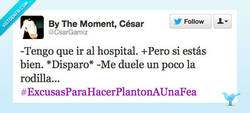 Enlace a #ExcusasParaHacerPlantonAUnaFea por @CsarGamiz