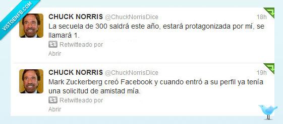 1,300,amistad,chuck norris,facebook,mark zukerberg,perfil,protagonizada,saldra,solicitud,trescientos,twitter,uno