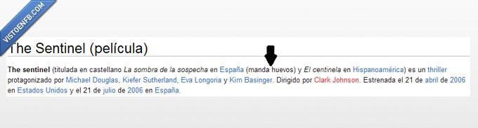 centinela,huevos,la sombra de la sospecha,me lo patillo todo,sentilel,traducción,Wikipedia