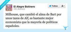 Enlace a Milhouse, el economista por @El_Botinero
