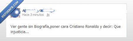 biografia,facebook,injusticia,ronaldo,son los elegidos,timeline