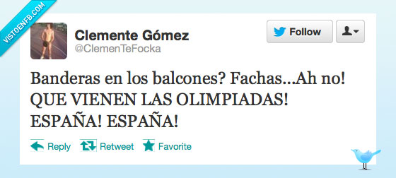 balcon,bandera,España,fachas,olimpiadas,viene