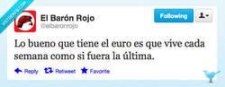 Enlace a Vivir al límite, al euro ya todo le da igual por @elbaronrojo