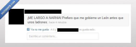 chorizos,españa,gobierno,león,Narnia