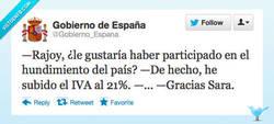 Enlace a Sara vs. Mariano por @Gobierno_Espana