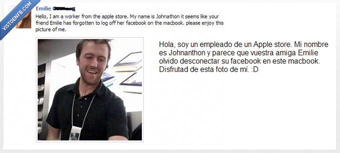 apple,cachondo,el,facebook,foto,olvidadiza,olvidar,store,tia