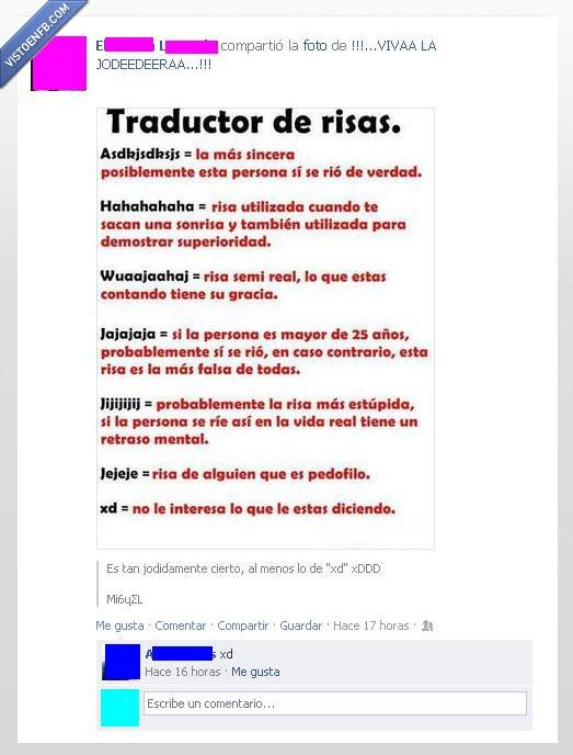 reír en internet,risas,traducción,xd