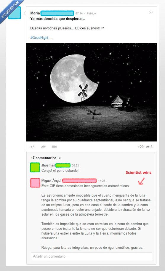 Astronomía,científico,estrellas,explicación,Google+,luna,rigor