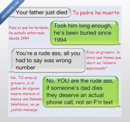 conversación,equivocado,muerto,número,padre