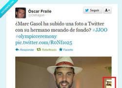 Enlace a Olimpiadas en el váter de Pau Gasol por @Osfragon